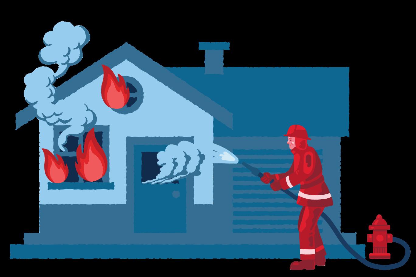 Firefighter Clipart illustration in PNG, SVG