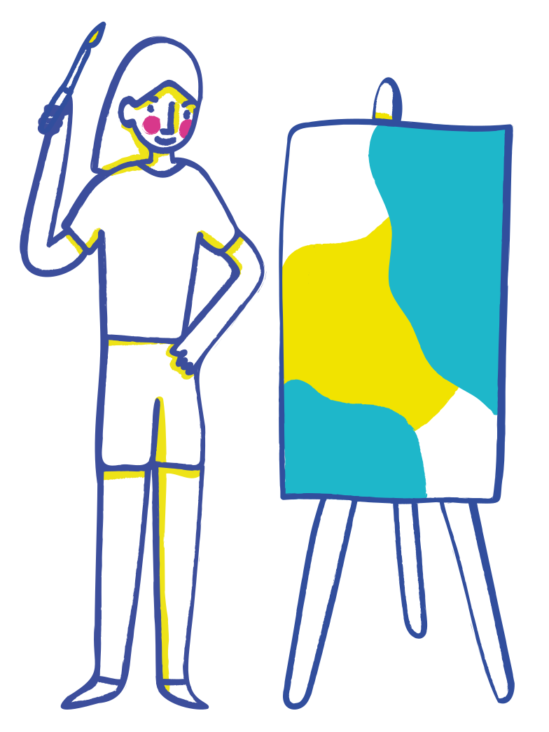 Drawing a masterpiece Clipart illustration in PNG, SVG