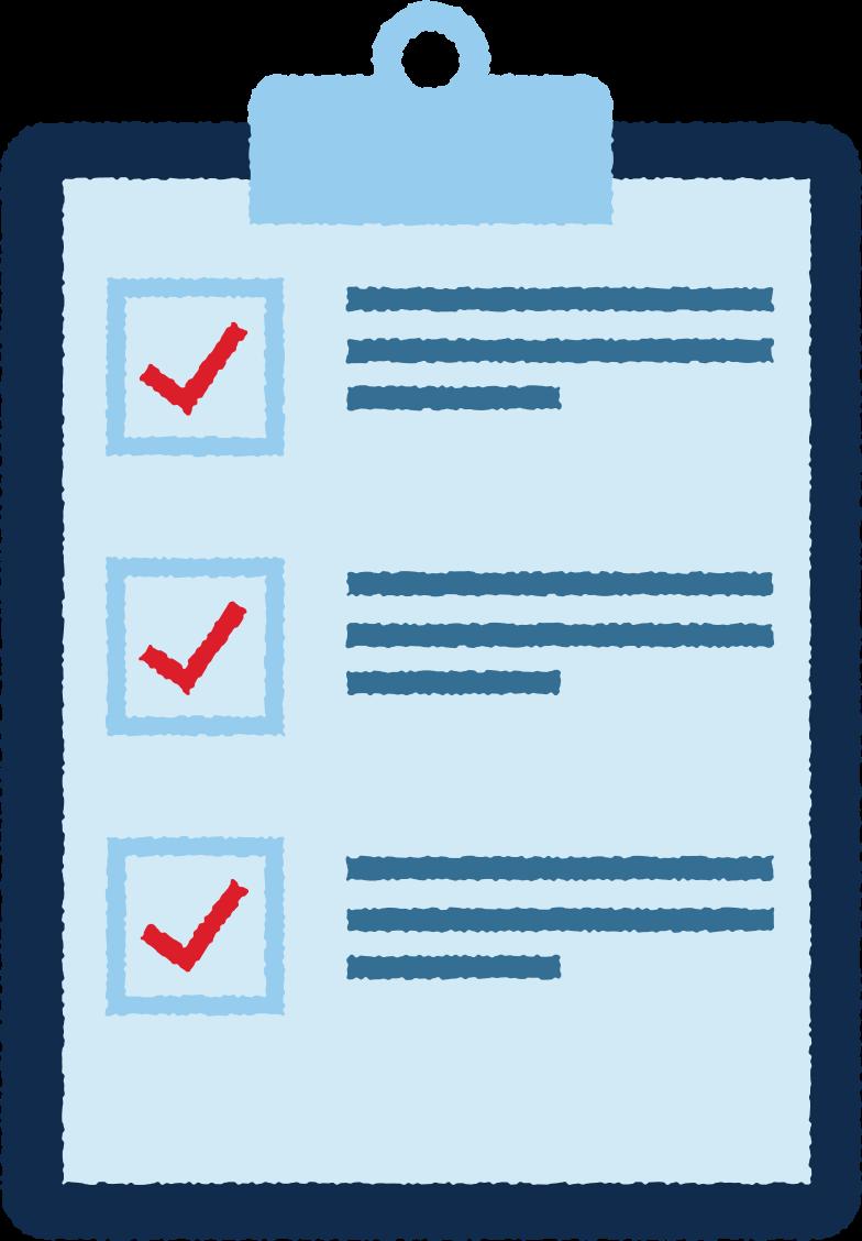 pad mit einer liste Clipart-Grafik als PNG, SVG