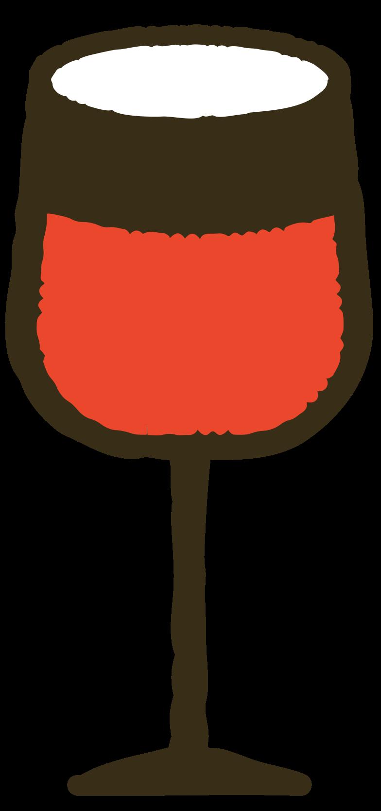 vine glass Clipart illustration in PNG, SVG