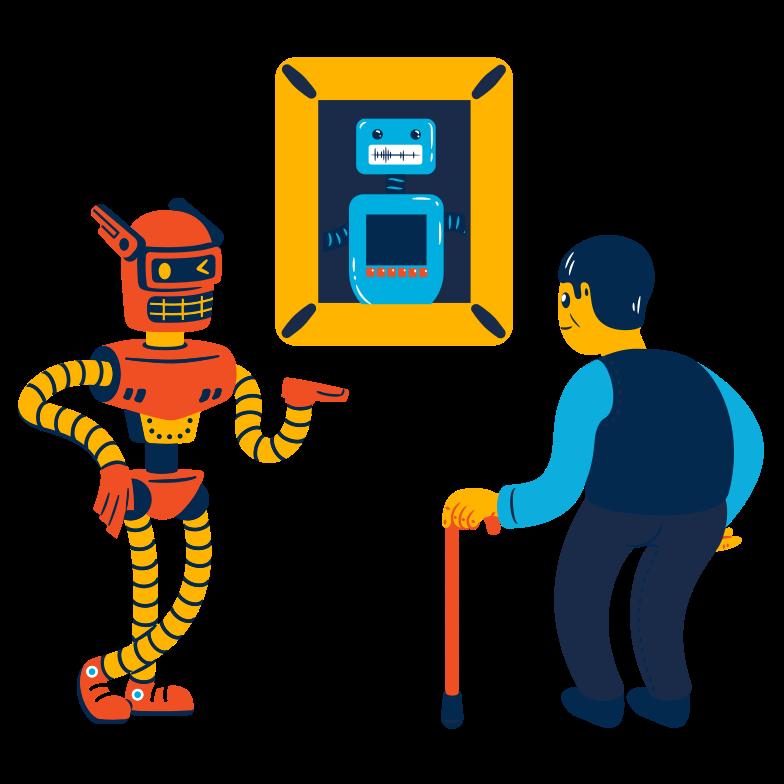 Ilustración de clipart de Guía del robot en PNG, SVG