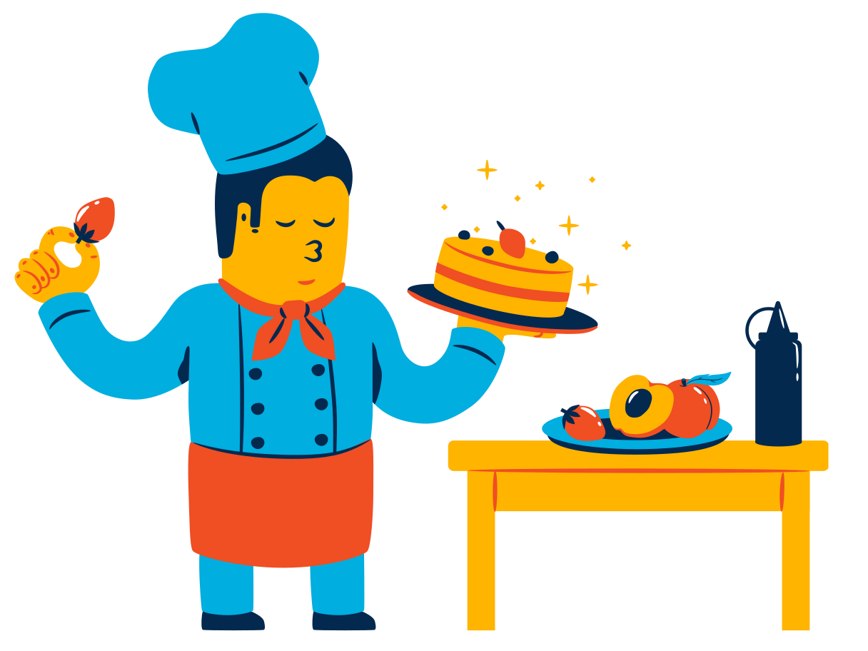 style Cook at work Vector images in PNG and SVG | Icons8 Illustrations