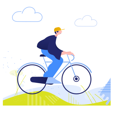 style Riding a bicycle images in PNG and SVG | Icons8 Illustrations