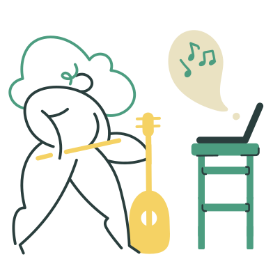 style Violin online course images in PNG and SVG | Icons8 Illustrations
