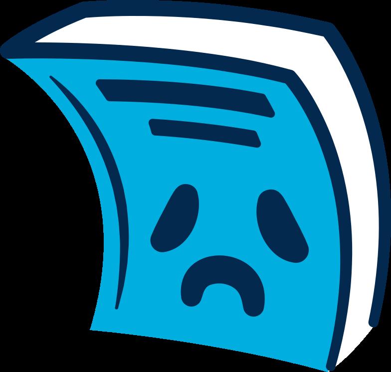 book sad Clipart illustration in PNG, SVG
