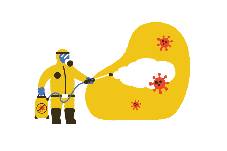 Fighting against the virus Clipart illustration in PNG, SVG