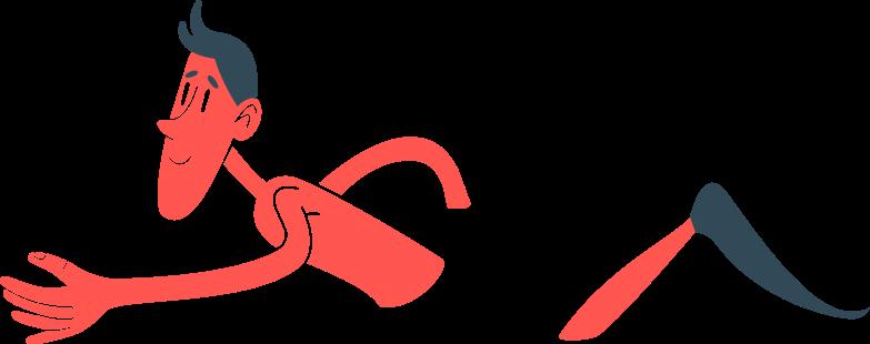 man bathes Clipart illustration in PNG, SVG