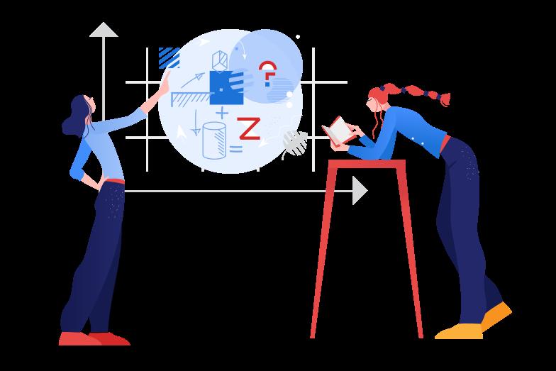 Solving math problem Clipart illustration in PNG, SVG