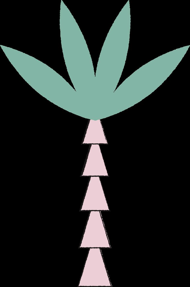 Ilustración de clipart de Palmera en PNG, SVG