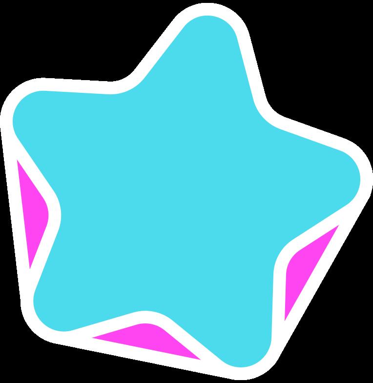 rg blue star Clipart illustration in PNG, SVG