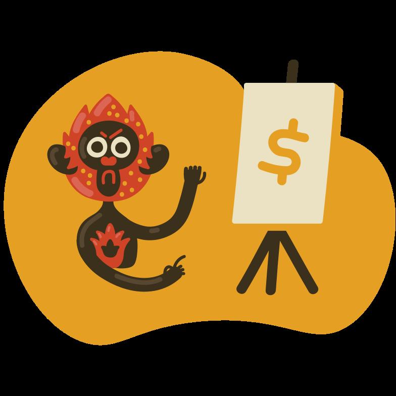 Finance presentation  Clipart illustration in PNG, SVG