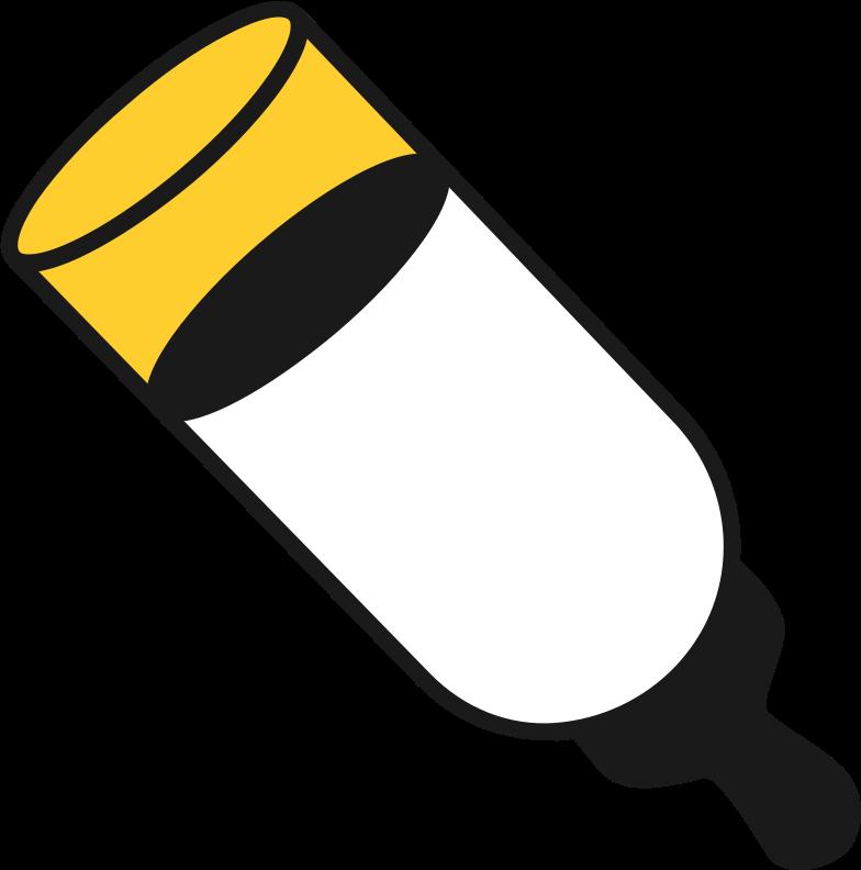 milk bottle Clipart illustration in PNG, SVG