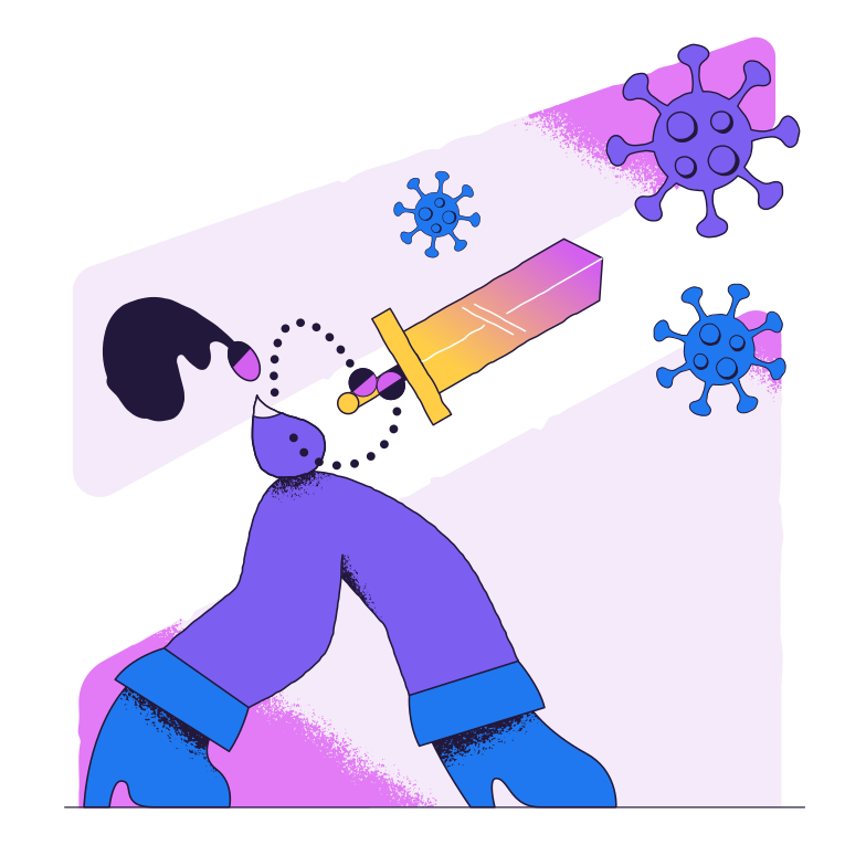 style Fighting the virus Vector images in PNG and SVG | Icons8 Illustrations
