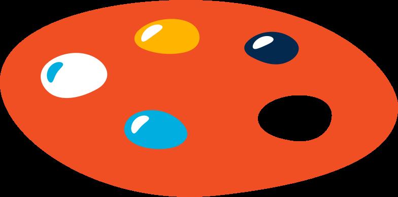 Ilustración de clipart de paleta en PNG, SVG
