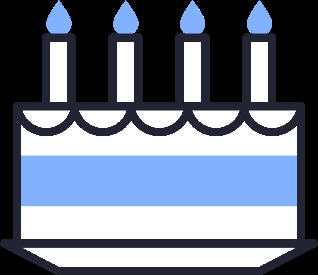 Illustration clipart Gâteau d'anniversaire aux formats PNG, SVG
