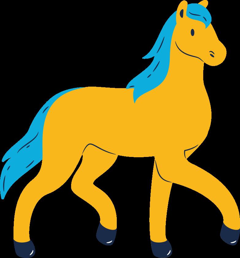 horse walking Clipart illustration in PNG, SVG