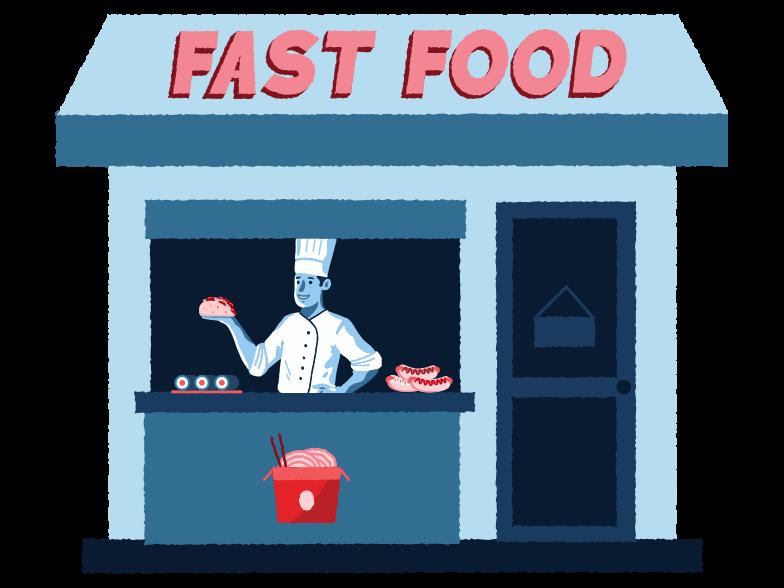 Immagine Vettoriale Negozio di fast food in PNG e SVG in stile  | Illustrazioni Icons8