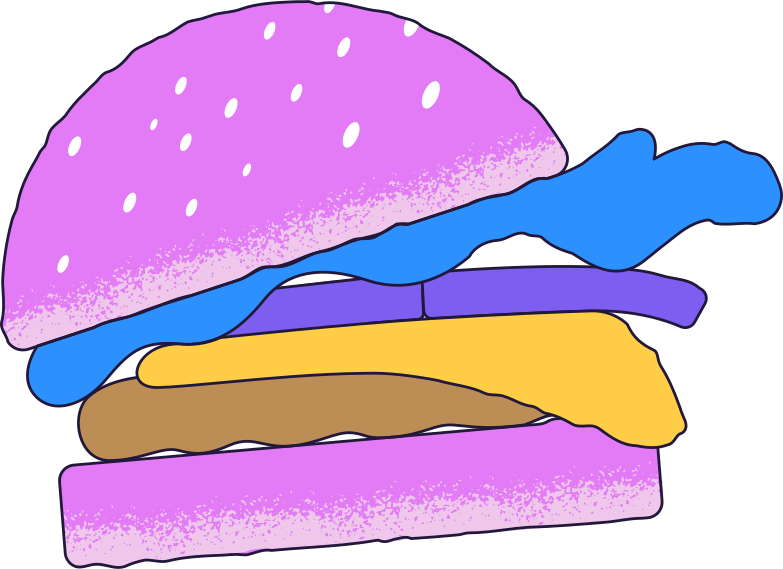 delivery  hamburger Clipart illustration in PNG, SVG