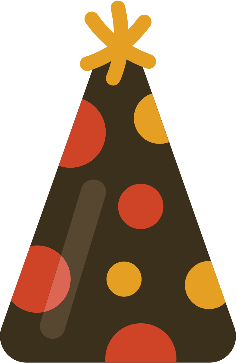 partyhat Clipart illustration in PNG, SVG