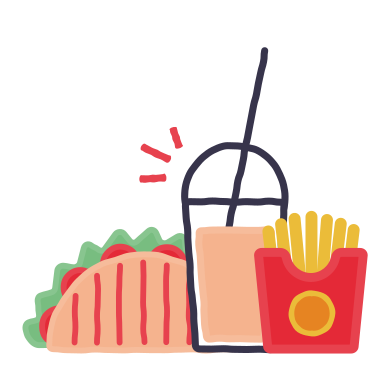 style Fast food images in PNG and SVG | Icons8 Illustrations