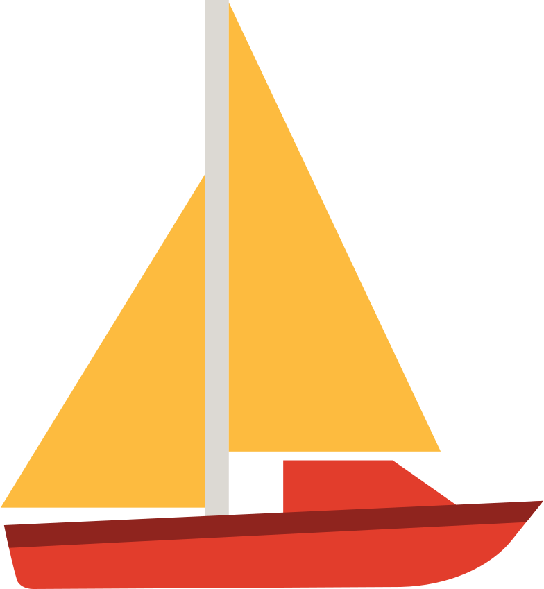 sailing yacht Clipart illustration in PNG, SVG