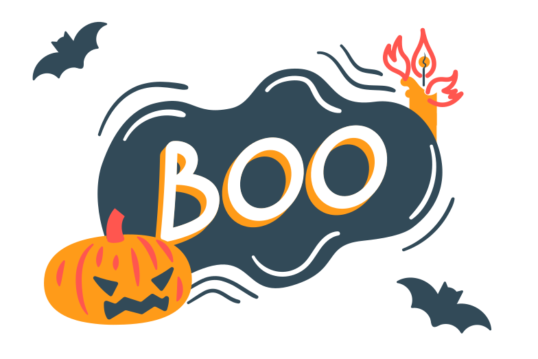 Halloween boo Clipart illustration in PNG, SVG