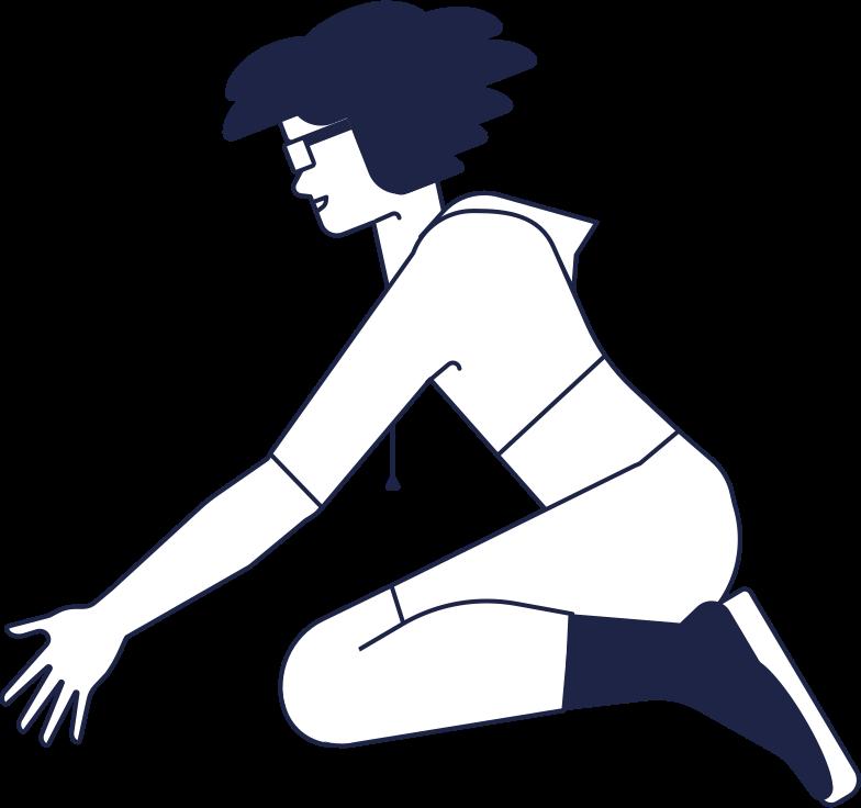 Frau picking line herunterladen Clipart-Grafik als PNG, SVG