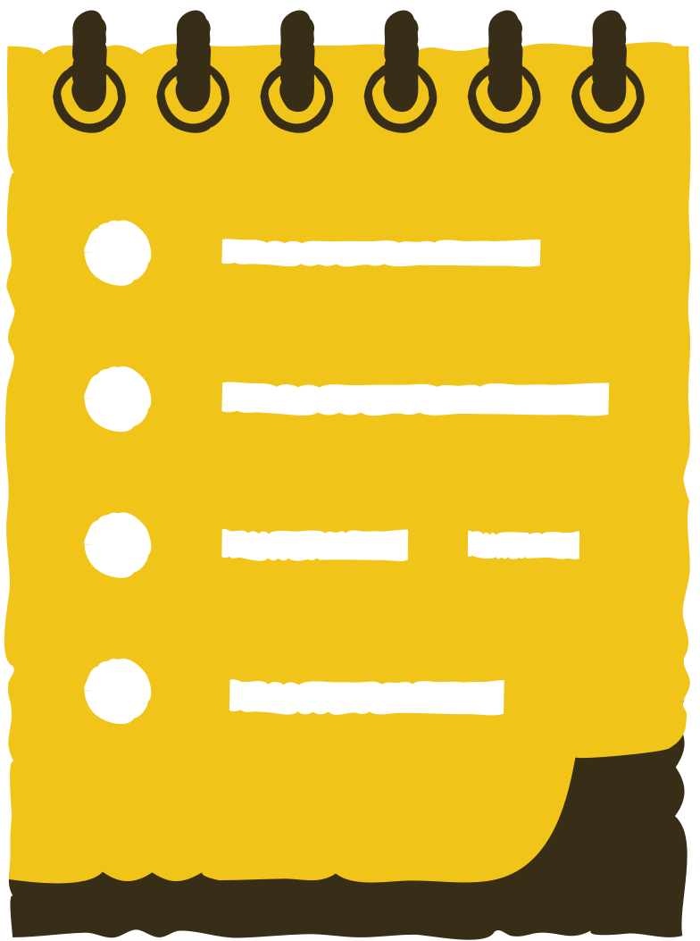 pad with a list Clipart illustration in PNG, SVG