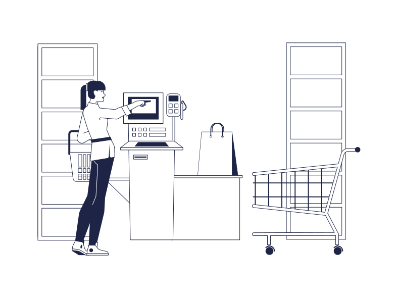 style Supermarket Self Service Vector images in PNG and SVG | Icons8 Illustrations
