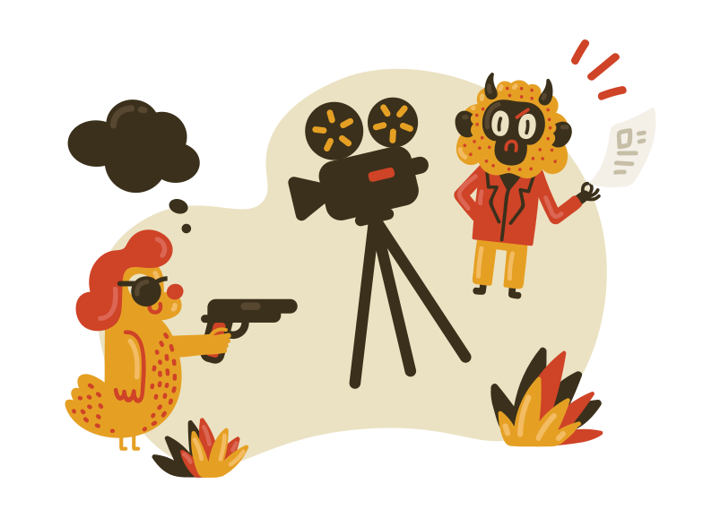 Making a movie Clipart illustration in PNG, SVG