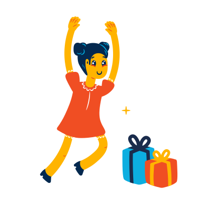 style Girl is getting presents images in PNG and SVG | Icons8 Illustrations