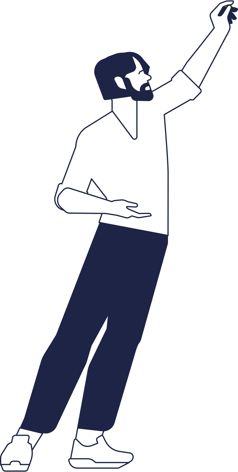 man with upped hand line Clipart illustration in PNG, SVG