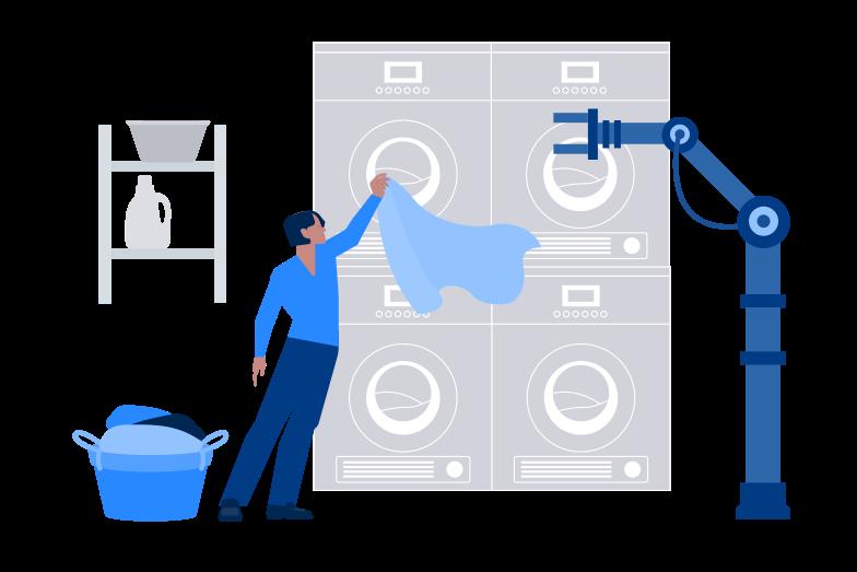 Robot helper Clipart illustration in PNG, SVG