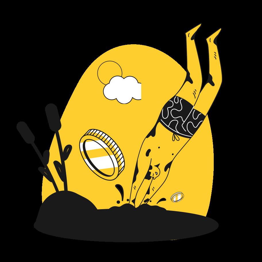 Swimmer Clipart illustration in PNG, SVG