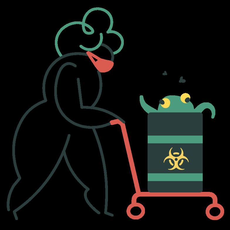 Biohazard waste Clipart illustration in PNG, SVG