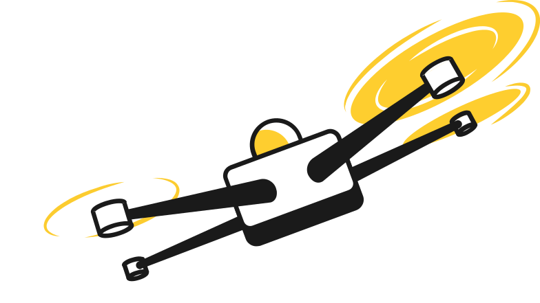 drone with lights Clipart illustration in PNG, SVG