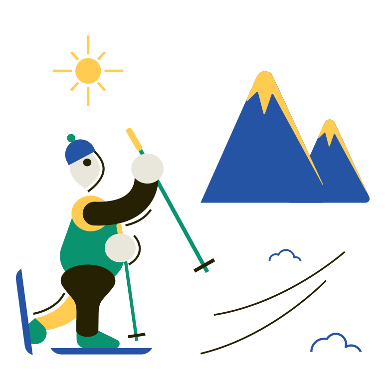 Alpine skiing Clipart illustration in PNG, SVG
