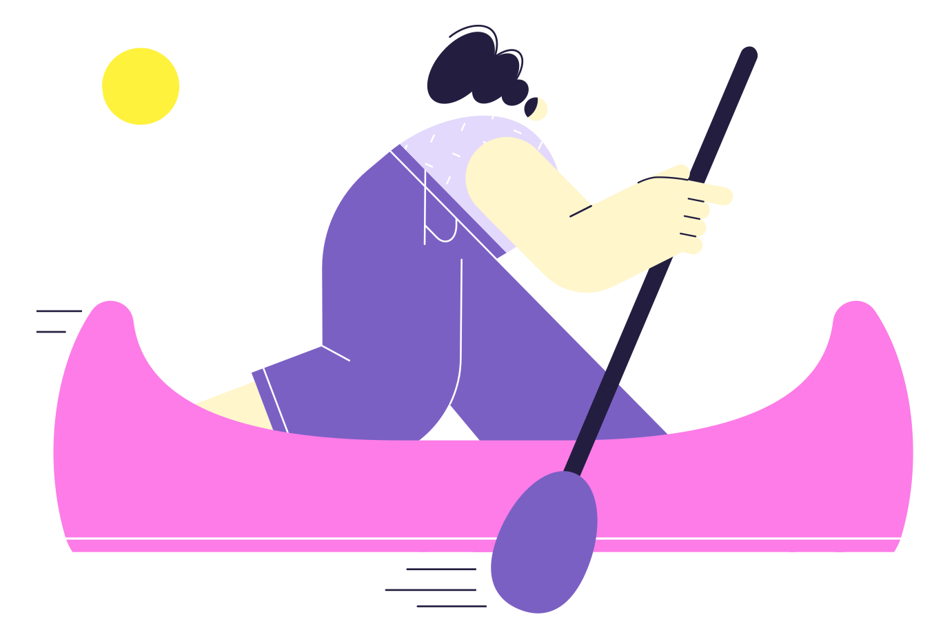 Canoe race Clipart illustration in PNG, SVG