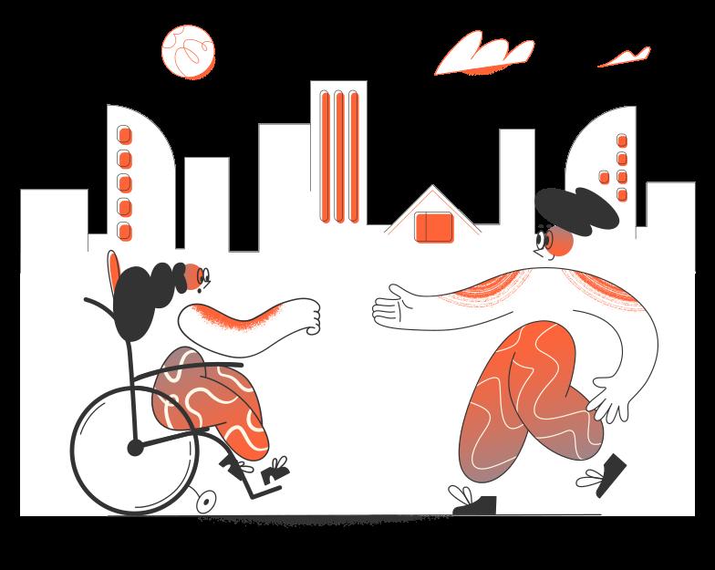 Disabled care Clipart illustration in PNG, SVG