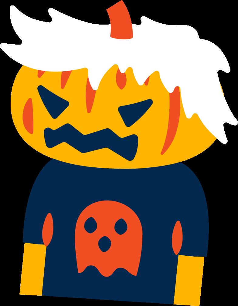 pumpkin kid Clipart illustration in PNG, SVG