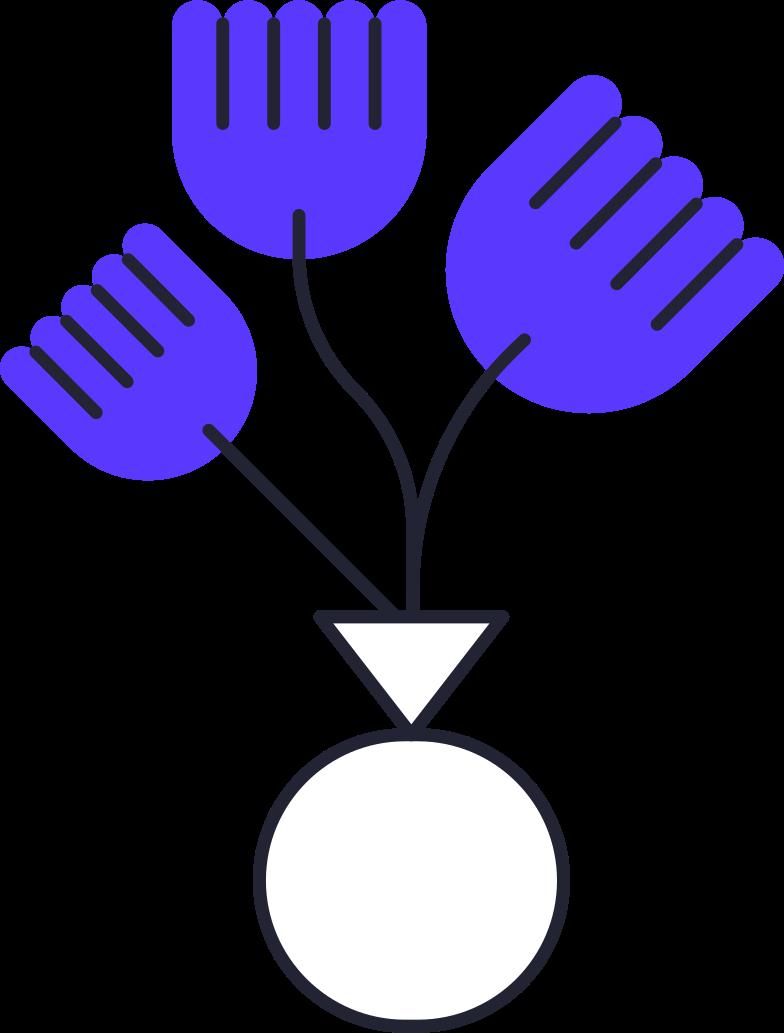Imágenes vectoriales flowers in vase en PNG y SVG estilo  | Ilustraciones Icons8