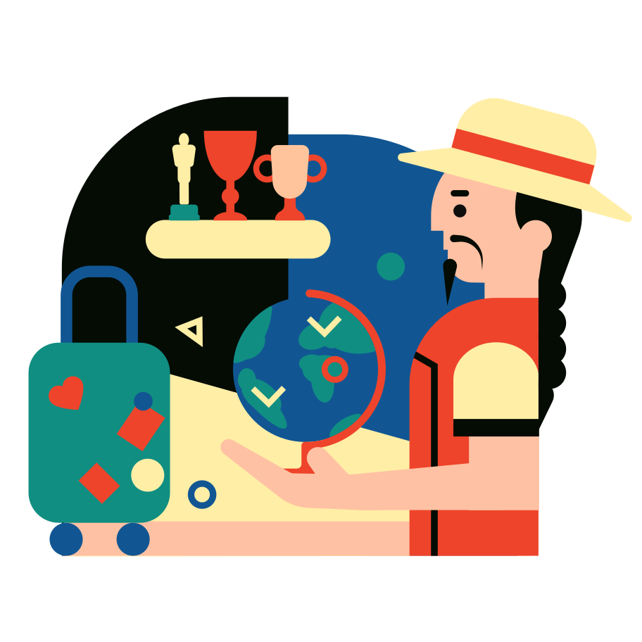 Traveling around the world Clipart illustration in PNG, SVG