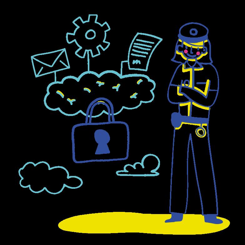 PNGとSVGの  スタイルの Saasデータ保護 ベクターイメージ | Icons8 イラスト