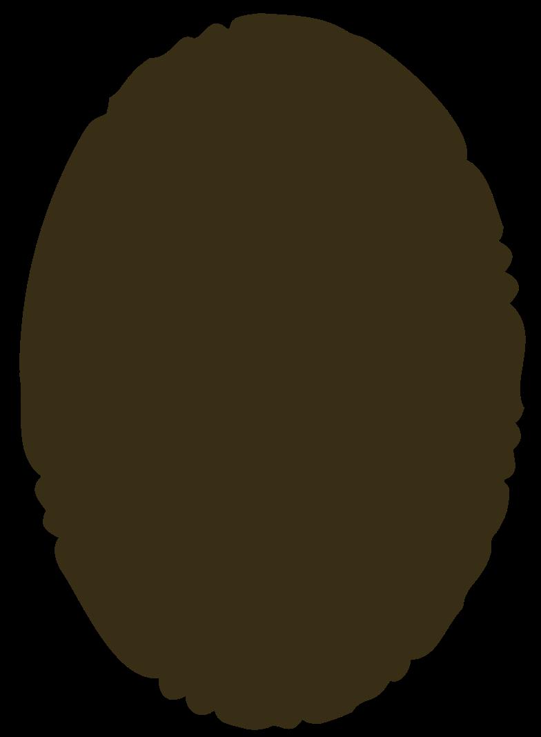 ellipse brown Clipart illustration in PNG, SVG