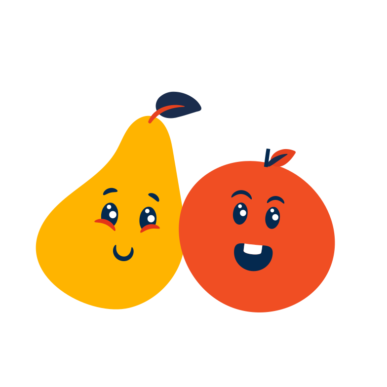 Cute fruits Clipart illustration in PNG, SVG