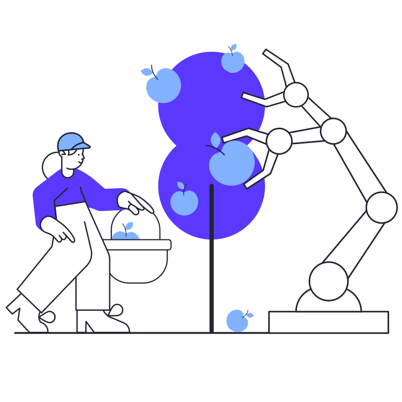 Robot gardener Clipart illustration in PNG, SVG