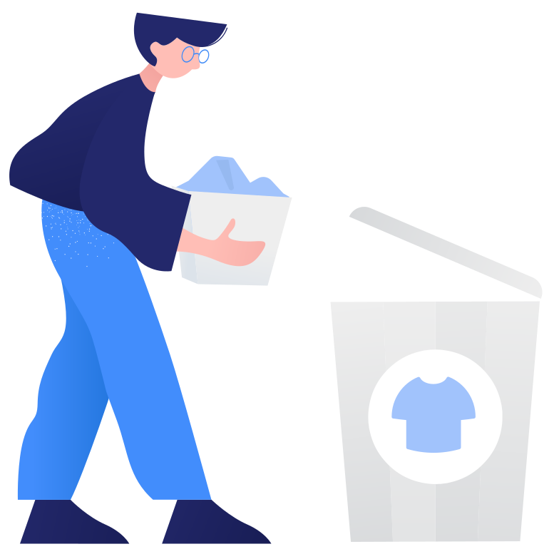 style Waste sorting- textile Vector images in PNG and SVG | Icons8 Illustrations