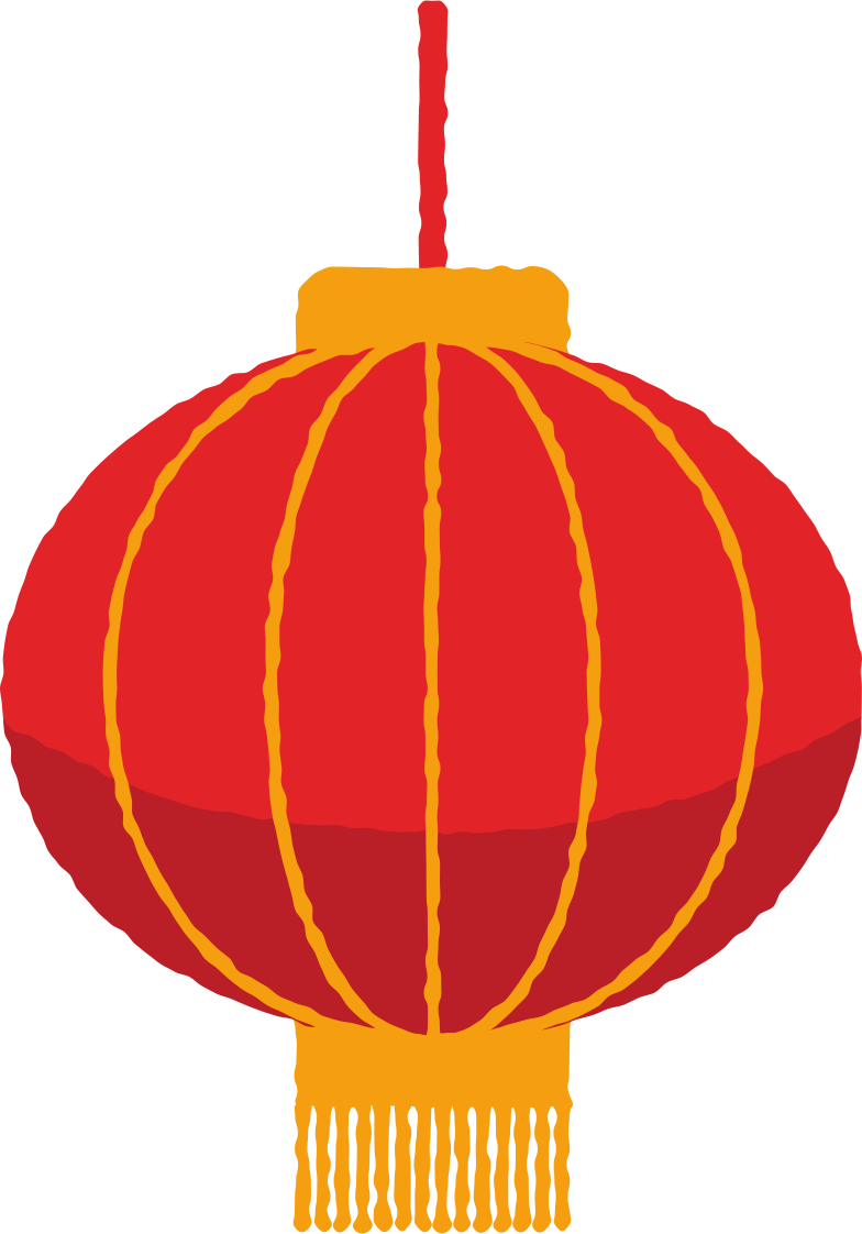 lantern round with fringe Clipart illustration in PNG, SVG