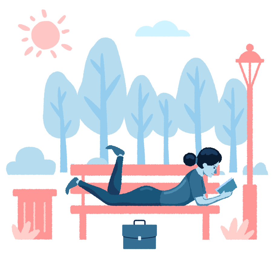 Chill in the park Clipart illustration in PNG, SVG
