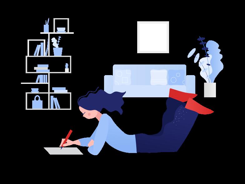 Doing homework Clipart illustration in PNG, SVG